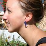 Steffi blue earrings