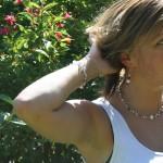 Steffi red/white earrings/necklace/bracelet