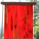 RED - float glass paining