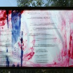 WRITE YOUR OWN STORY - float glass paining